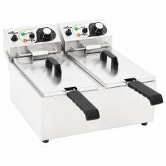 Friteuse double électrique Acier inoxydable 12 L 4000 W