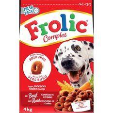 FROLIC Croquettes completes - au boeuf frais, carottes et céréales - pour chien - 1,5kg