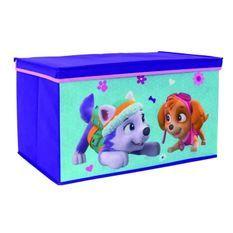 Fun House Pat Patrouille fille coffre a jouets pliable pour enfant