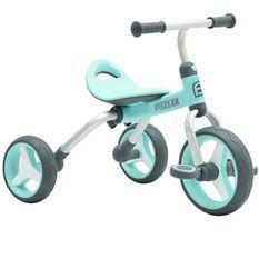 FUNBEE Porteur Tricycle 2 en 1 bleu clair Pour Enfant
