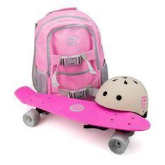 FUNBEE Skate 22 avec sac a dos + casque bol Rose