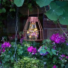 GALIX Lampe de table solaire : Metal finition cuivré