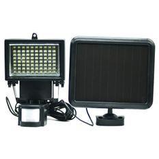 GALIX Spot solaire tres éclairant avec détecteur de présence - 80 LED - Noir