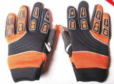Gants de cross nylon Noir et Orange