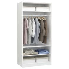 Garde-robe Blanc brillant 100 x 50 x 200 cm Aggloméré
