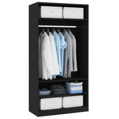 Garde-robe Noir 100 x 50 x 200 cm Aggloméré
