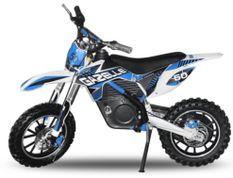Gazelle 500W bleu 10/10 pouces Moto cross électrique