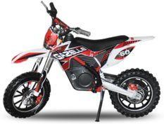 Gazelle 500W rouge 10/10 pouces Moto cross électrique