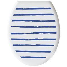 GELCO DESIGN Abattant WC - Charnieres plastique - Polypropylene - Motif marin - Bleu majorelle