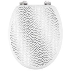 GELCO DESIGN Abattant WC Dash - Charnieres inox - MDF - Noir et blanc