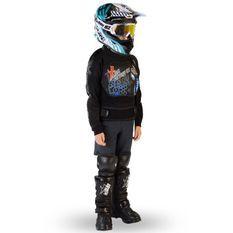 Gilet de protection enfant pour moto et quad bleu Xtm factory