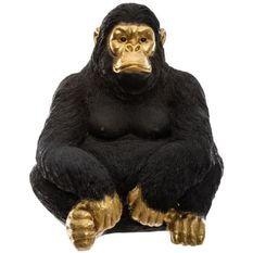 Gorille grand modele - H50 cm - Noir doré