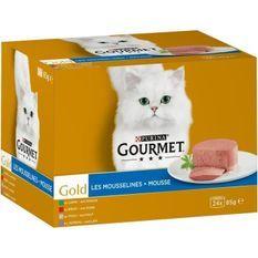 GOURMET Gold Les Mousselines - Pour chat adulte - 24 x 85 g