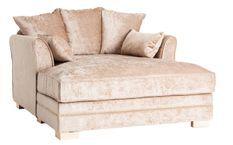 Grand fauteuil tissu beige coton chiné Nelan 232 cm