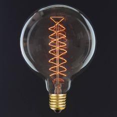 Grande ampoule décorative D 12.5cm filament zigzag 40W E27