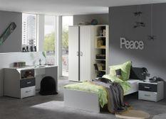 Grande chambre blanc et gris Kuzo