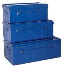 Grandes malles acier bleu Dax - Lot de 3