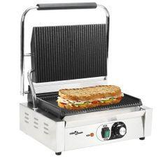 Grill rainuré pour panini 2200 W 44 x 41 x 19 cm