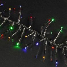 Guirlande feu d'artifice - 200 LED multicolore - IP44 - 31V - 8 fonctions avec mémoire - 2 m - Fil noir