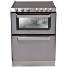 HOOVER Rosieres-Trv60In/U-Cuisinieres Vitroceramique - 60X60 - Email Lisse - Gris