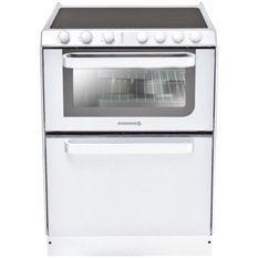 HOOVER Rosieres-TRV60RB/U-Cuisinieres Vitroceramique - 60X60 - Email Lisse - Blanc