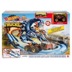 HOT WHEELS Monster Trucks Scorpion - Circuit Motorisé 80 cm - 2 véhicules inclus