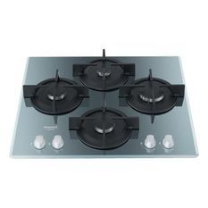 HOTPOINT- HAGD61SICE - Table de cuisson gaz - 4 foyers