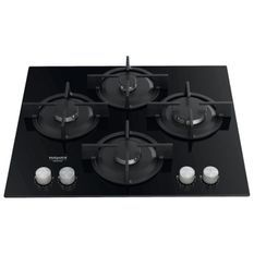 HOTPOINT- HAGS61SBK - Table de cuisson gaz - 4 foyers - 7300W - L55.8 x l48.3cm -Noir