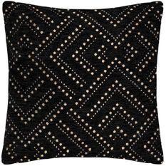 Housse de coussin Chenille Dot - 40 x 40 cm - Noir