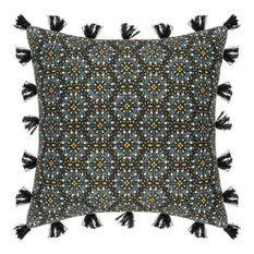 Housse de Coussin Rosace Pompon - 40 x 40 cm - Multicolore