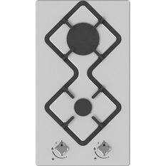 HUDSON HDG 2 I - Table de cuisson gaz domino - 2 foyers - Inox