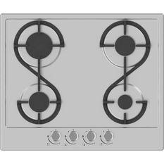 HUDSON HTG 4 I - Table de cuisson gaz - 4 foyers - L 60 cm - Revetement email - Inox