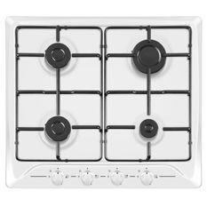 HUDSON HTG 640 B - Table de cuisson gaz - 4 foyers - L 60 cm - Revetement email - Inox