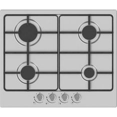 HUDSON HTG 640 I - Table de cuisson gaz - 4 foyers - L 60 cm - Revetement email - Inox