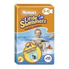 HUGGIES LITTLE SWIMMERS Maillot de bain jetable - Taille 5/6 ans - 12-18 kg - Le paquet de 11 maillots