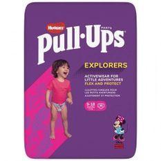 HUGGIES PULL-UPS Couches bébé fille - Taille 4 - 9 a 8 mois - 8 a 12 kg - Le paquet de 36 couches