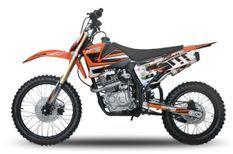 Hurricane 250cc orange 19/16 pouces Dirt bike nouvelle version