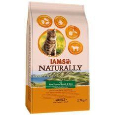 IAMS Naturally Croquette Agneau Nouvelle-Zélande & Riz - Toutes races - 2,7 kg - Pour chat adulte