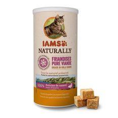 IAMS Naturally Friandises - 100 % viande de canard - Pour chat - Tube de 50 g