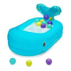 INFANTINO Baignoire Bébé Gonflable Baleine avec Balles de Jeu