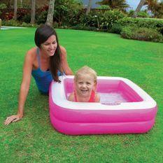 INTEX Piscine gonflable enfant / bébé pataugeoire Carree 85 x 85 x 23 cm (couleur aléatoire)