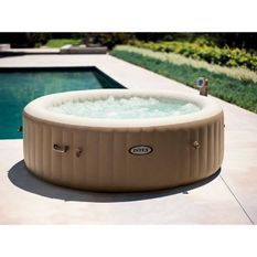 INTEX Spa gonflable rond PureSpa bulles - 6 places