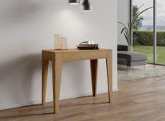 Console extensible bois de chêne naturel 8 personnes 42 à 198 cm Kanda
