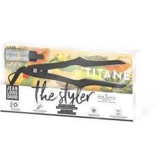 JEAN LOUIS DAVID The Styler 39997 - Lisseur léger et ergonomique - Titane & tourmaline - Plaques flottantes - Gris irrisé