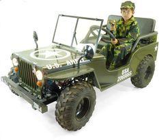 Jeep enfant 150cc semi-automatique verte