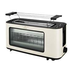 KALORIK TKG TO 1012 KTO Grille-pain large fente 38cm - 1100W - Niveau de brunissement réglable - 3 fonctions auto-Blanc cassé/Noir