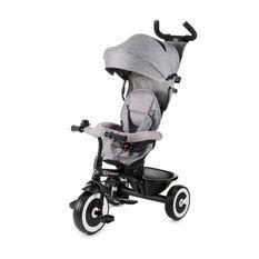KINDERKRAFT - Tricycle Évolutif ASTON gris - des 9 mois