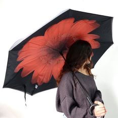 KINSTON Parapluie inversé Imprimé Rouge