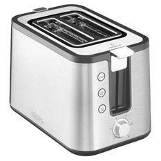 KRUPS KH442D10 Control Line Grille-pain inox, Toaster 2 fentes larges, Remontée extra haute, Fonctions réchauffage et décongélation