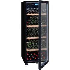 LA SOMMELIERE CTVNE186ACave de vieillissement porte vitrée - A - 194 bouteilles - Noir